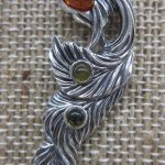 New Line Baltic Amber from Poland in Sterling Silver